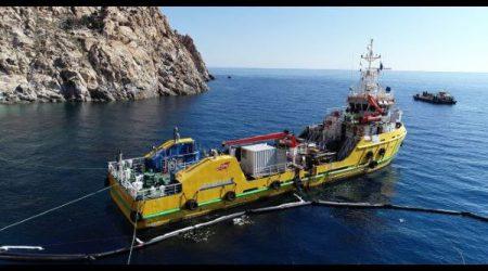 S/V 'Ievoli Shuttle' – Operazione di prevenzione inquinamento da idrocarburi e di debunkering al relitto del motopesca 'Bora Bora' affondato sulla costa dell'isola di Montecristo'